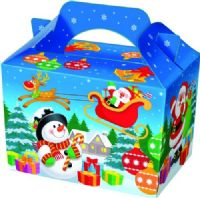 Christmas Xmas Cartoon Snowman Meal Party Box
